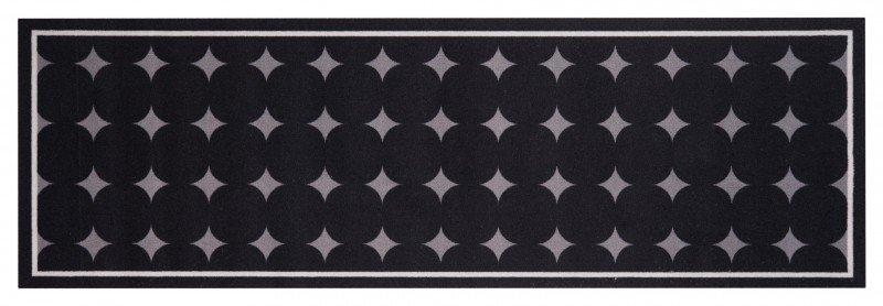 Černý moderní kusový bytový koberec Cook & Clean - délka 140 cm a šířka 45 cm