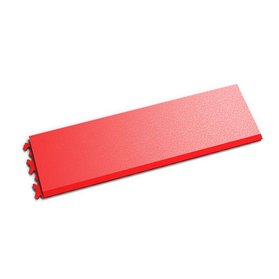 """Červený vinylový plastový nájezd """"typ C"""" Invisible 2033 (hadí kůže), Fortelock - délka 46,8 cm, šířka 14,5 cm a výška 0,67 cm"""