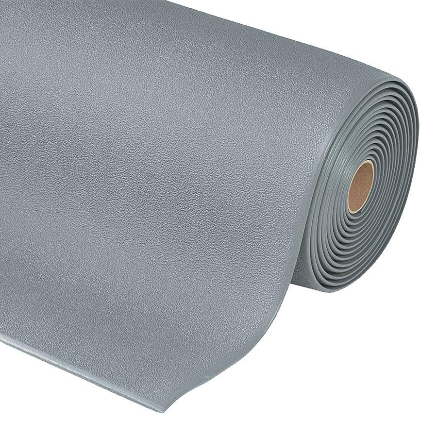 Šedá protiúnavová průmyslová rohož Sof-Tred, Plus - výška 0,94 cm