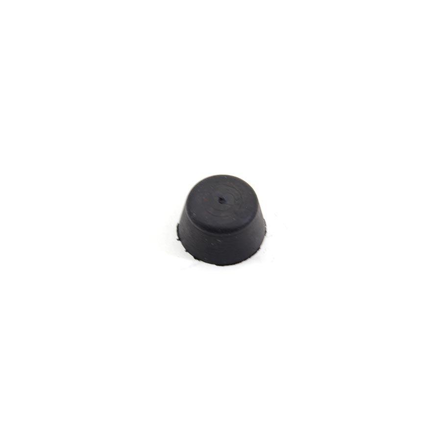 Černý pryžový doraz návlečný pro hlavu šroubu FLOXO - průměr 1,9 cm a výška 1 cm