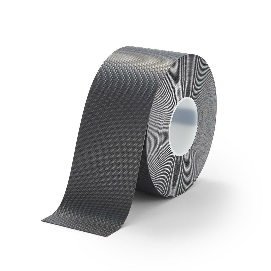 Černá protiskluzová páska na zábradlí FLOMA Handrail Grip - délka 18,3 m, šířka 10 cm a tloušťka 1,11 mm