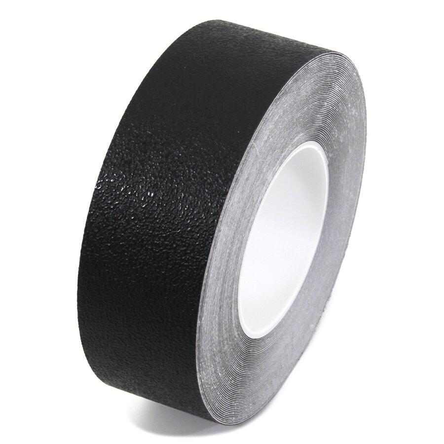 Černá plastová voděodolná protiskluzová páska FLOMA Aqua-Safe - délka 18,3 m, šířka 5 cm a tloušťka 0,7 mm