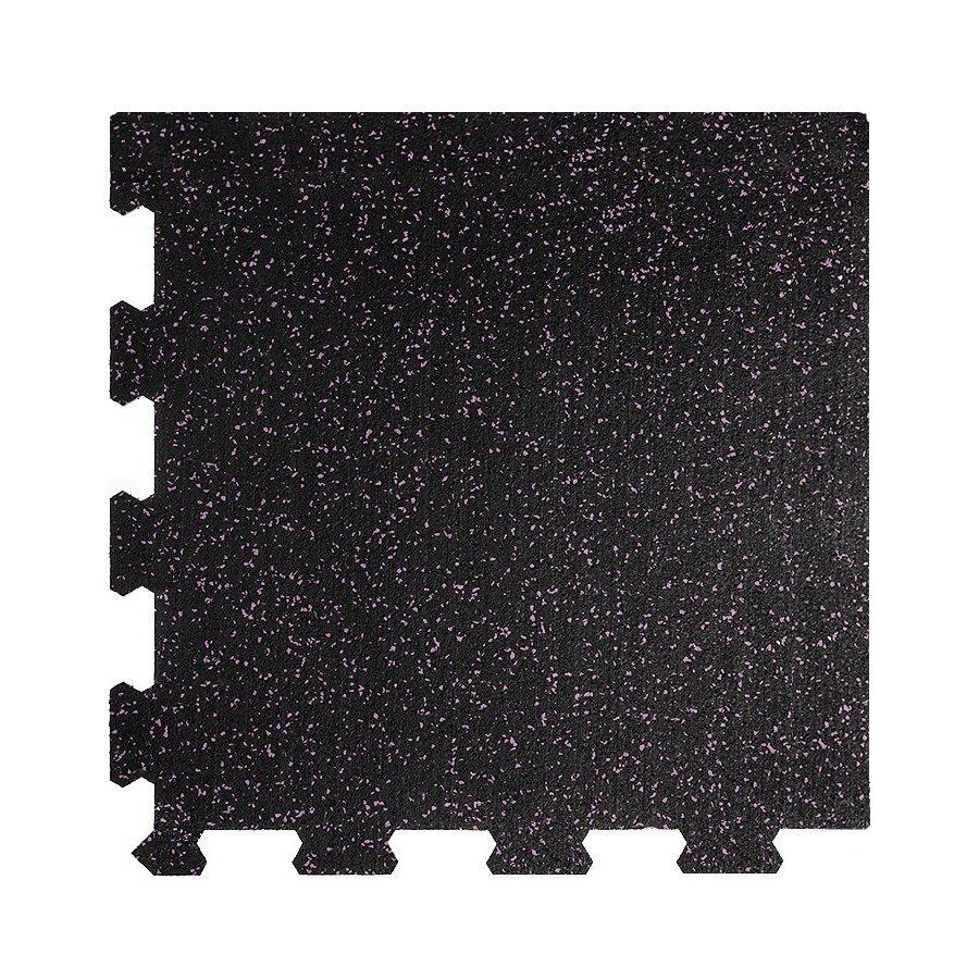 Různobarevná pryžová (10% EPDM STANDARD) modulární fitness deska (roh) SF1050 - délka 47,8 cm, šířka 47,8 cm a výška 1 cm