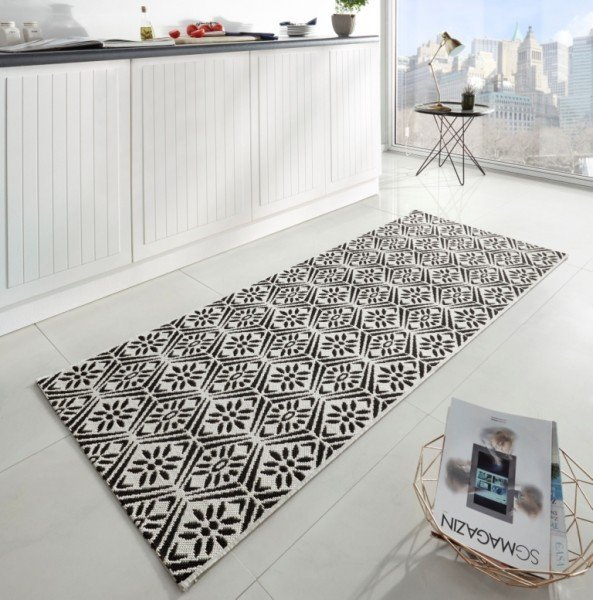 Černý moderní kusový koberec Soho - délka 200 cm a šířka 80 cm