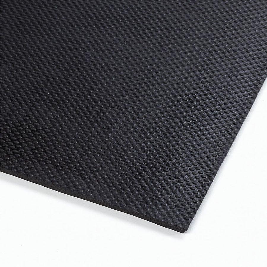 Černá gumová extra odolná průmyslová rohož Slabmat - délka 182 cm, šířka 122 cm a výška 1,27 cm