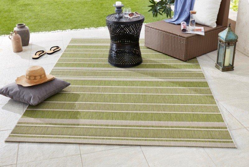 Zelený kusový moderní koberec Meadow
