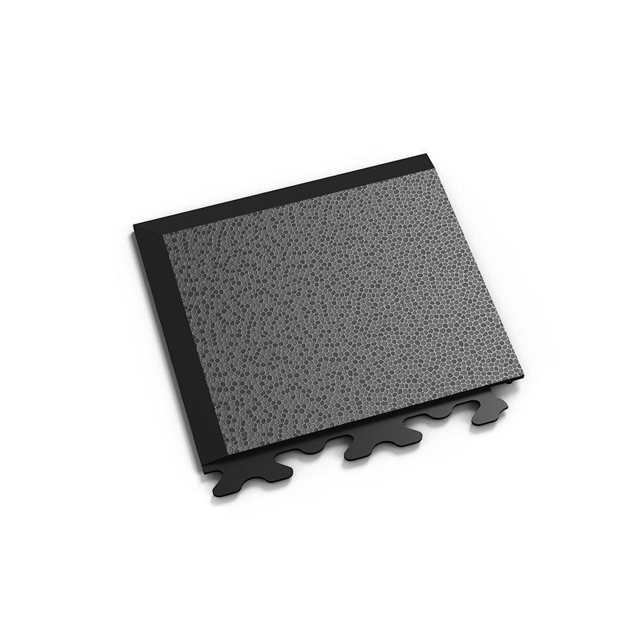 "Černý vinylový plastový rohový nájezd ""typ A"" Invisible 2036 (hadí kůže), Fortelock - délka 14,5 cm, šířka 14,5 cm a výška 0,67 cm"