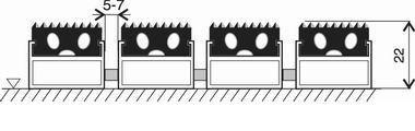 Gumová hliníková venkovní vstupní rohož FLOMA Alu Standard - šířka 100 cm a výška 2,2 cm