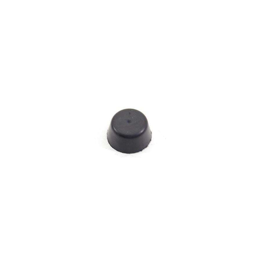 Černý pryžový doraz návlečný pro hlavu šroubu FLOXO - průměr 1,7 cm a výška 0,9 cm