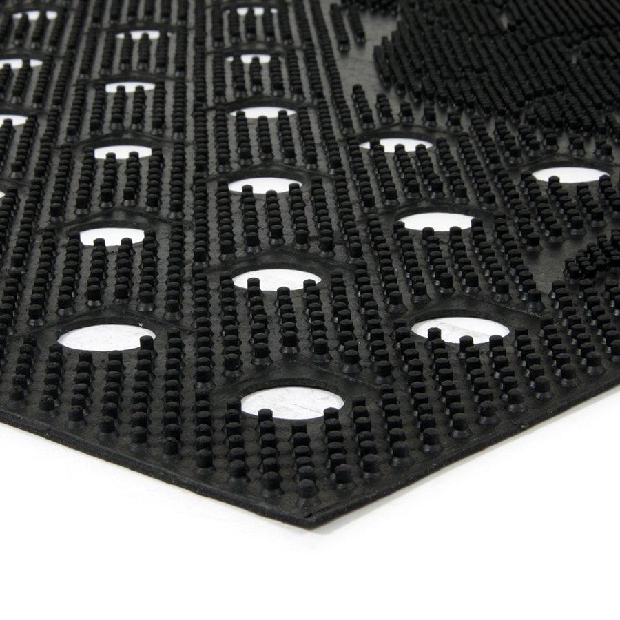Gumová čistící děrovaná venkovní vstupní rohož FLOMA Cat - délka 45 cm, šířka 75 cm a výška 0,7 cm