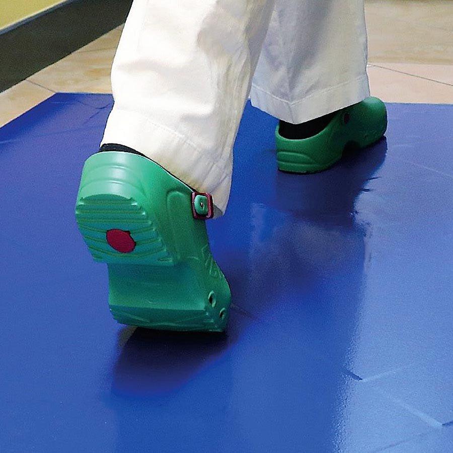Zelená dezinfekční lepící dekontaminační rohož FLOMA Sticky Mat - 60 listů