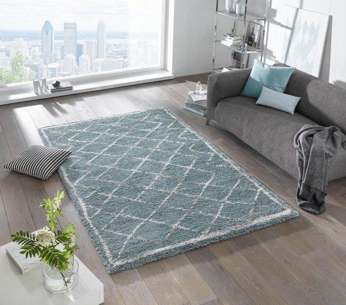 Modrý moderní kusový koberec Grace - délka 150 cm a šířka 80 cm