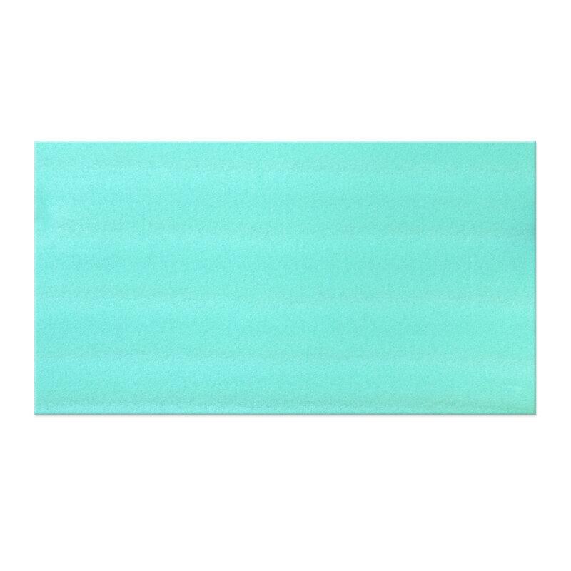 Modro-zelená gymnastická pěnová podložka na cvičení MASTER - délka 90 cm, šířka 50 cm a výška 0,8 cm