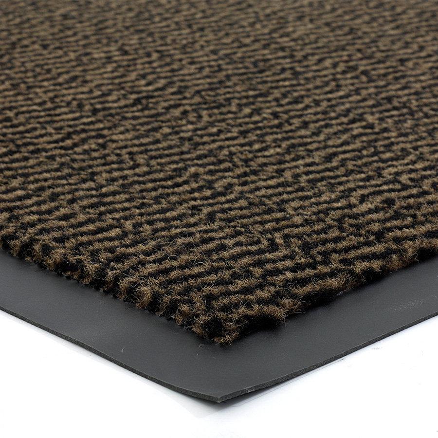 Hnědá metrážová čistící vnitřní vstupní rohož Spectrum, FLOMA - délka 1 cm a výška 0,5 cm