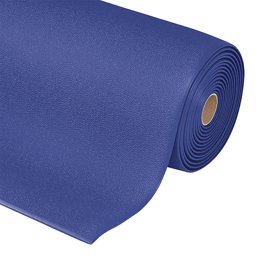 Modrá metrážová protiúnavová průmyslová rohož Sof-Tred - délka 1 cm a výška 0,94 cm