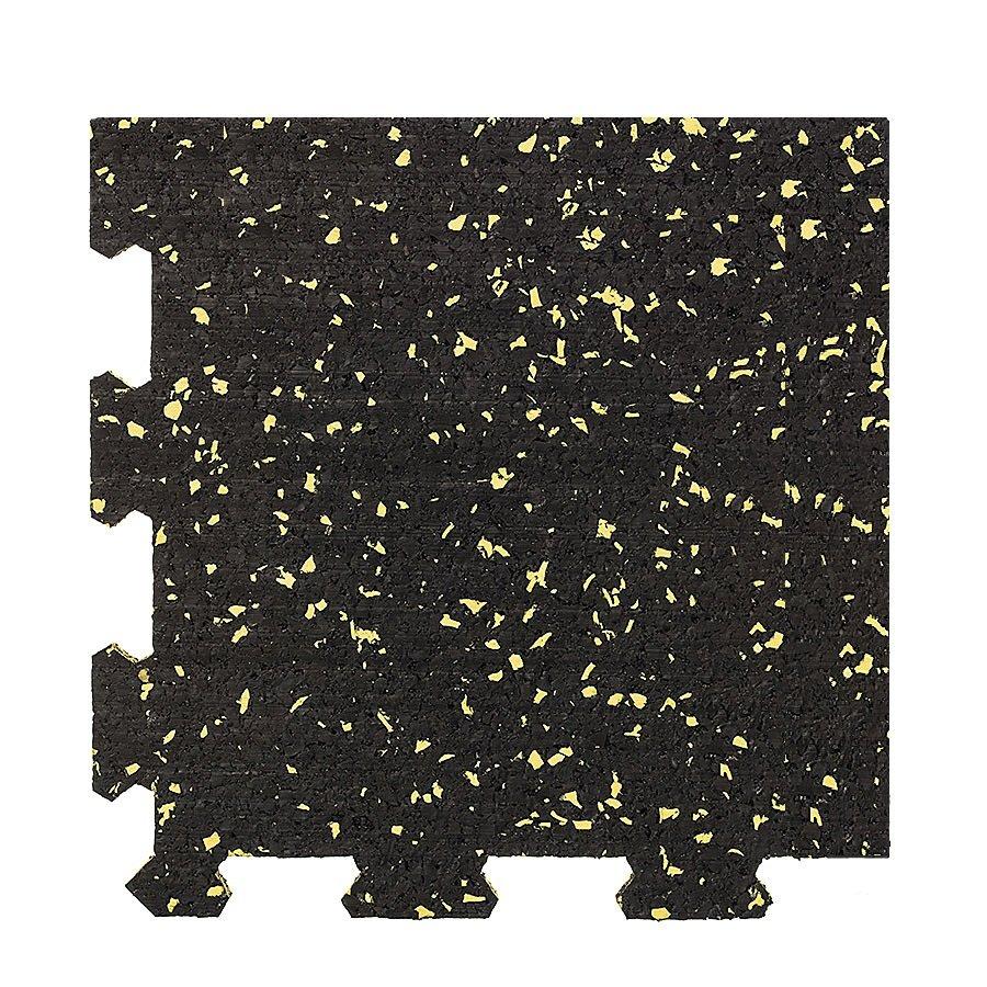 Různobarevná pryžová (10% EPDM PREMIUM) modulární fitness deska (roh) SF1050 - délka 95,6 cm, šířka 95,6 cm a výška 1 cm