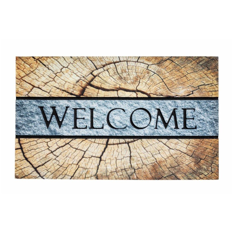 Venkovní čistící vstupní rohož FLOMA Residence Welcome Grain - délka 45 cm, šířka 75 cm a výška 0,9 cm