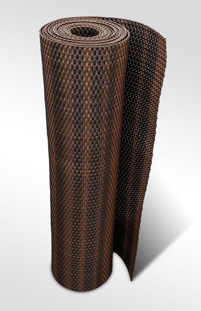 """Černo-hnědá plastová ratanová stínící rohož """"umělý ratan"""" - délka 500 cm a výška 90 cm"""