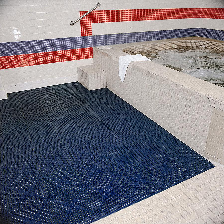 Černá bazénová rohož (dlaždice) Lok-Tyle - délka 30,5 cm, šířka 30,5 cm a výška 1,43 cm