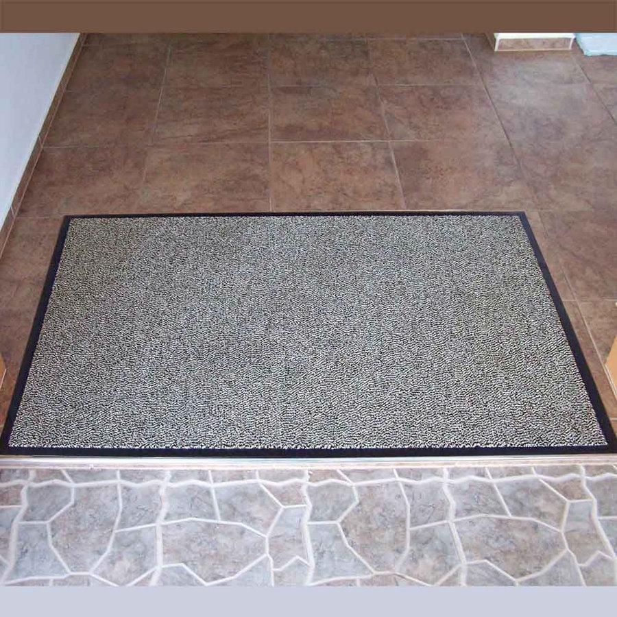 Šedá textilní vstupní vnitřní čistící rohož 01 - délka 90 cm, šířka 150 cm a výška 0,7 cm