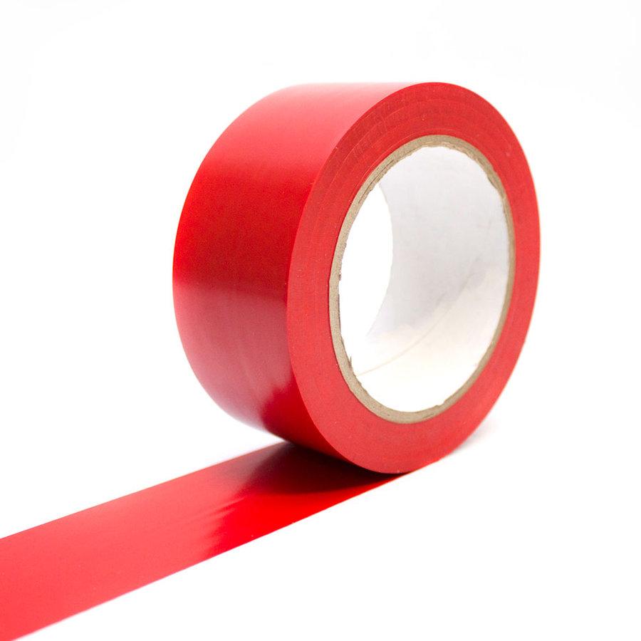 Červená vyznačovací samolepící podlahová páska - délka 33 m a šířka 5 cm