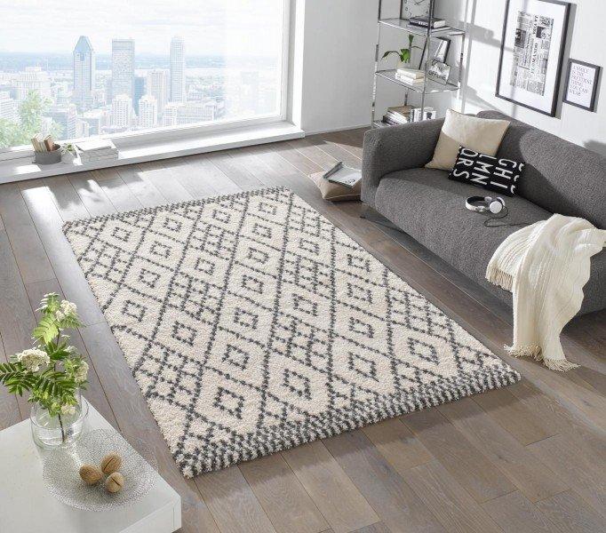 Béžový moderní kusový koberec Grace - délka 150 cm a šířka 80 cm