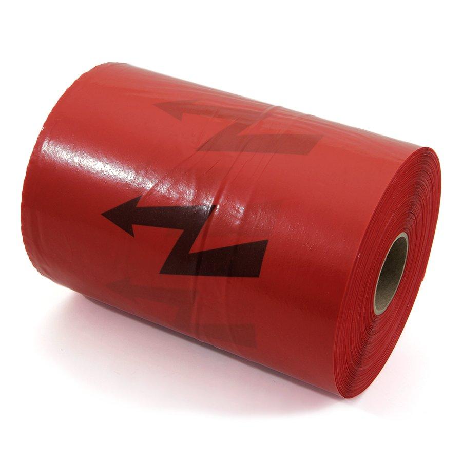 Červená výkopová páska - délka 250 m a šířka 22 cm
