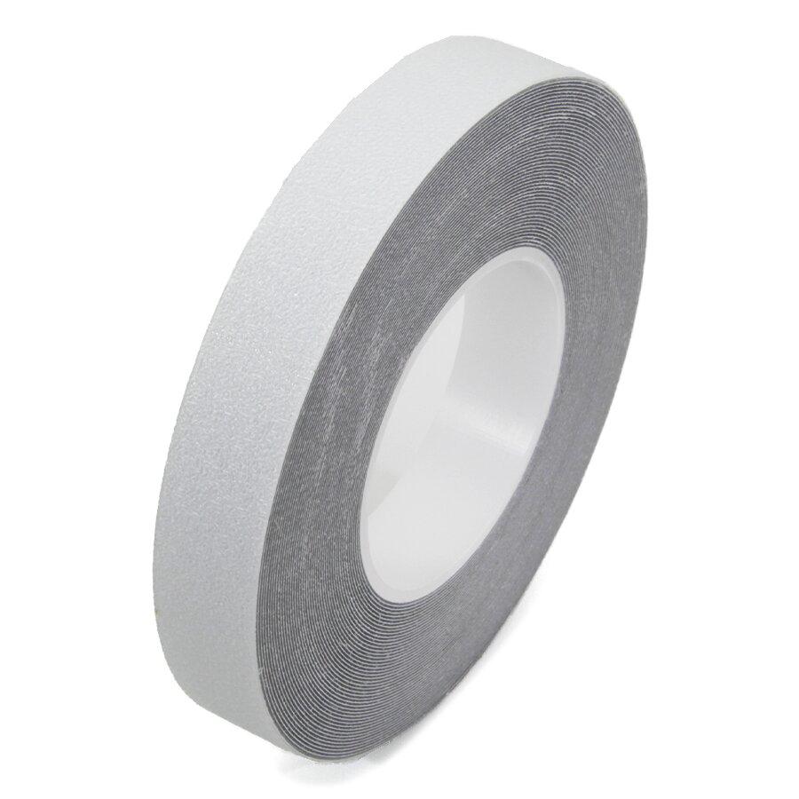 Průhledná plastová voděodolná protiskluzová páska FLOMA Aqua-Safe - délka 18,3 m, šířka 2,5 cm a tloušťka 0,7 mm