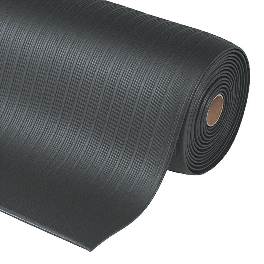 Černá protiúnavová průmyslová rohož Plus, Airug - výška 0,94 cm