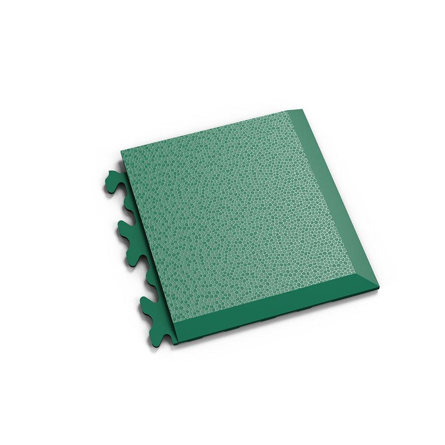"""Zelený vinylový plastový rohový nájezd """"typ D"""" Invisible 2039 (hadí kůže), Fortelock - délka 14,5 cm, šířka 14,5 cm a výška 0,67 cm"""