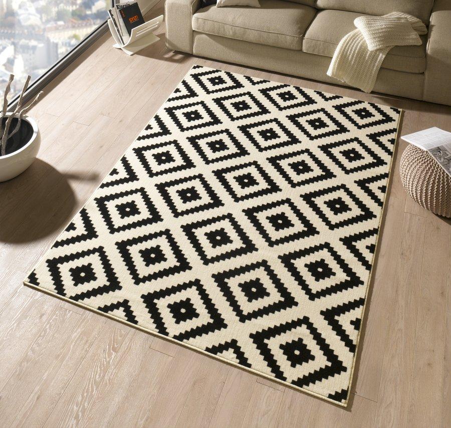 Černý kusový moderní koberec Hamla