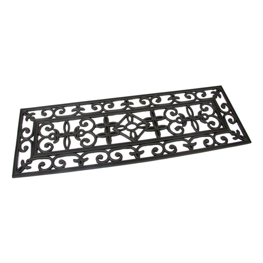 Gumová čistící schodová venkovní vstupní rohož Deco, FLOMAT - délka 25 cm, šířka 75 cm a výška 0,8 cm