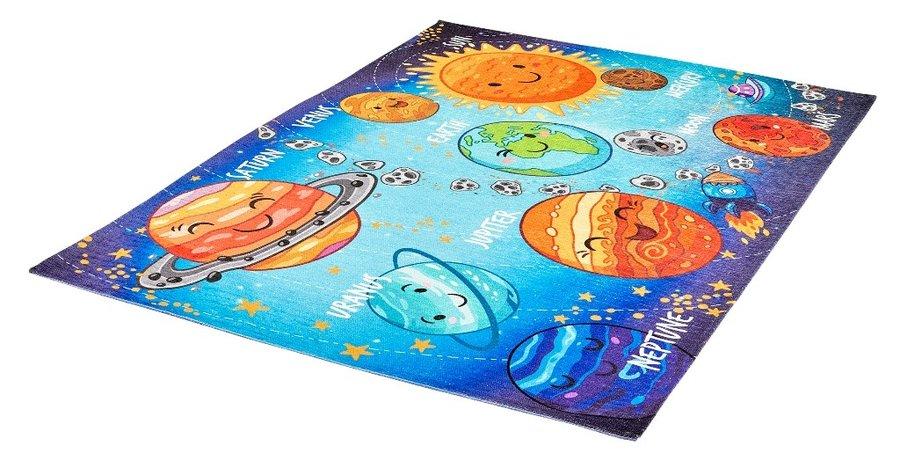 Různobarevný kusový hrací dětský koberec Torino Kids - délka 170 cm a šířka 120 cm