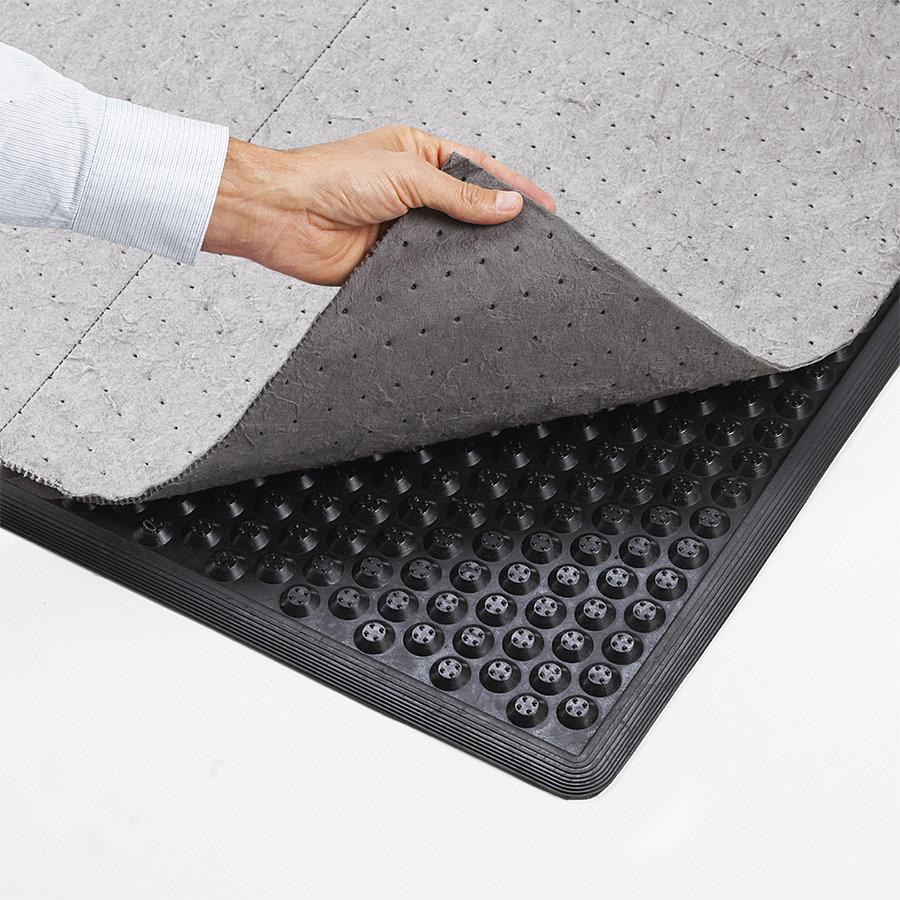 Černá protiúnavová sorpční rohož Eco Stance - délka 157 cm, šířka 87 cm a výška 1,27 cm