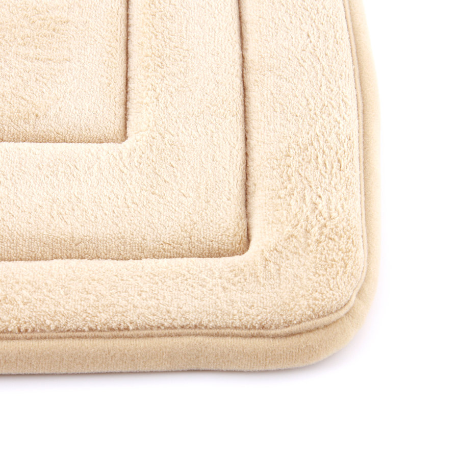 Béžová koupelnová pěnová předložka 01 - délka 83 cm a šířka 54 cm