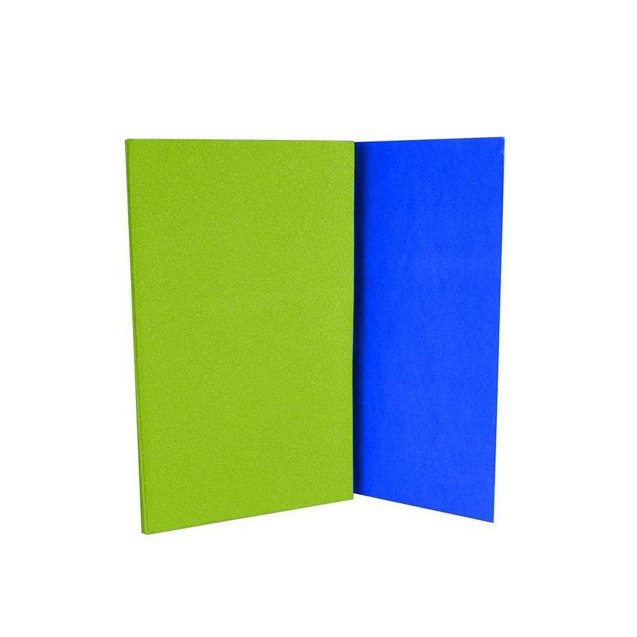 Modro-zelená skládací karimatka na cvičení - délka 180 cm, šířka 50 cm a výška 0,8 cm