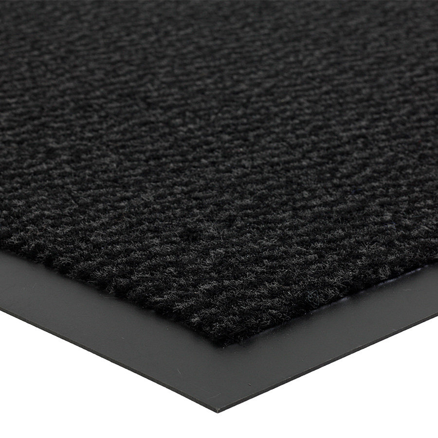 Antracitová metrážová čistící vnitřní vstupní rohož (lem - 2 strany) Spectrum, FLOMA - délka 1 cm a výška 0,5 cm