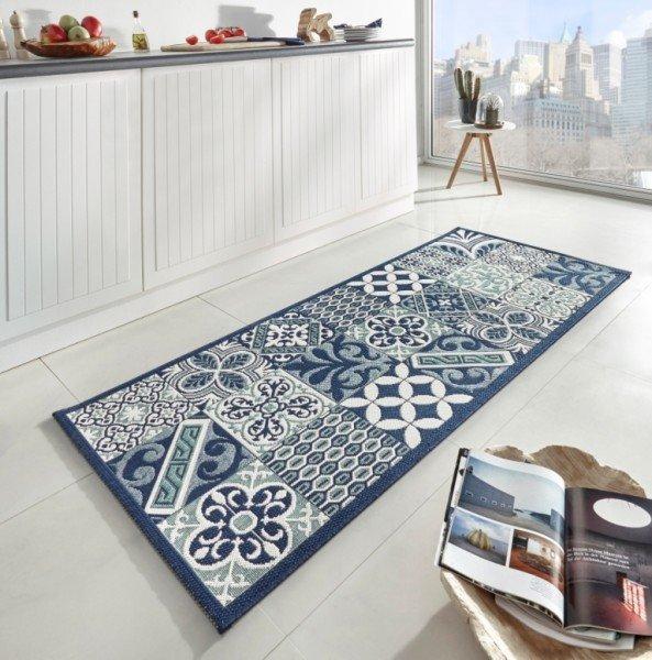 Modrý kusový moderní koberec Soho - délka 200 cm a šířka 80 cm
