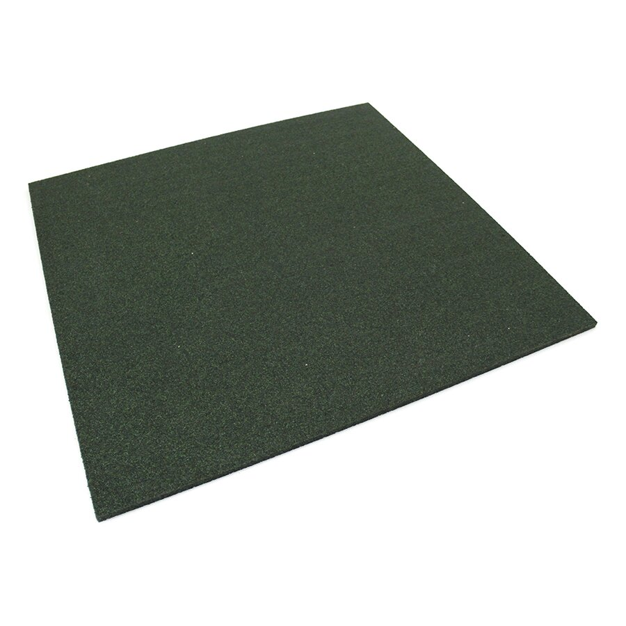 Zelená gumová dlažba (deska) FLOMA SportFlo S800 - délka 98 cm, šířka 98 cm a výška 2,5 cm