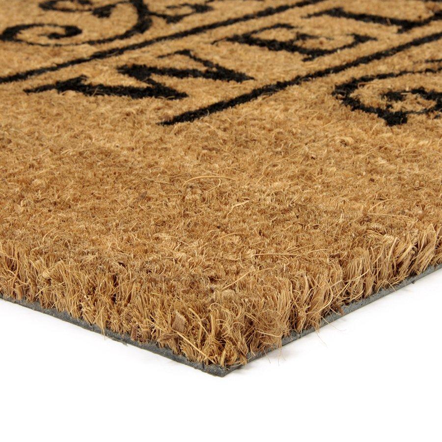 Kokosová vstupní venkovní čistící rohož Welcome - Deco, FLOMA - délka 40 cm, šířka 80 cm a výška 1,7 cm