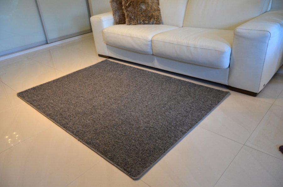 Šedý kusový kulatý koberec Shaggy - průměr 100 cm