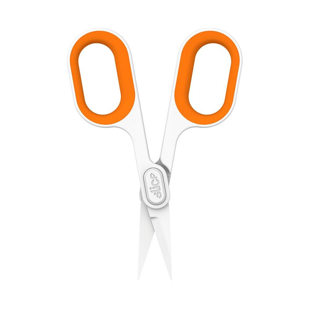 Keramické nůžky (ostrá špička) - délka 13,2 cm, šířka 6,2 cm a výška 1,3 cm