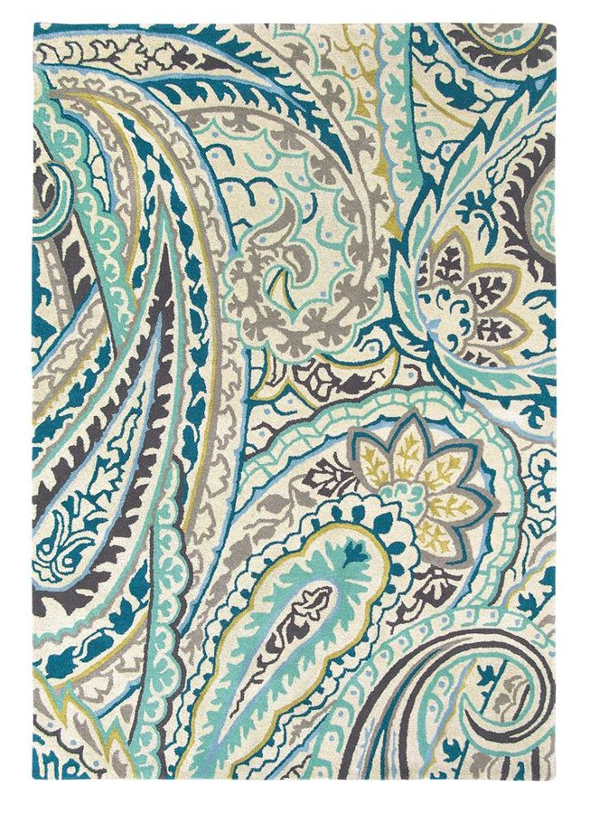 Světle modrý moderní kusový koberec Kashmir - délka 240 cm a šířka 170 cm