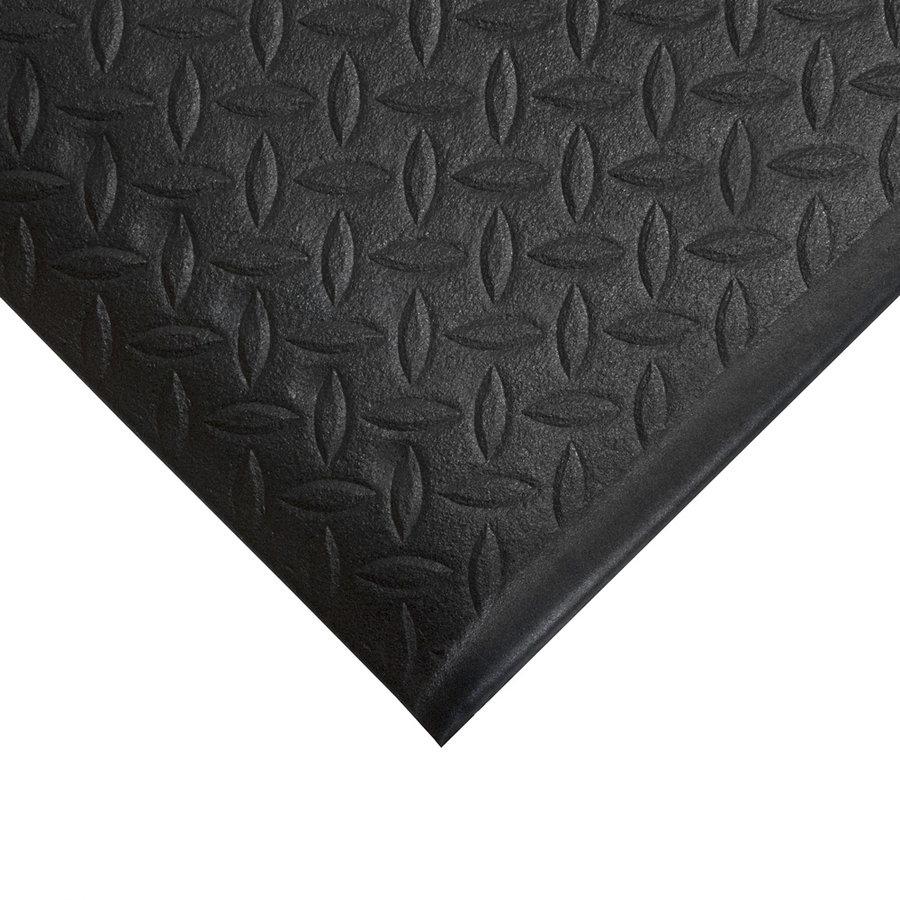 Černá protiskluzová protiúnavová průmyslová pěnová rohož - délka 18,3 m, šířka 120 cm a výška 0,9 cm