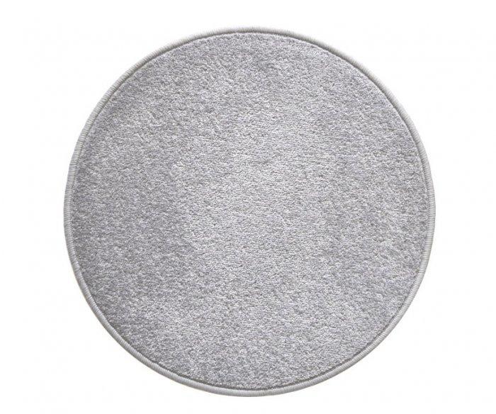 Šedý kusový kulatý koberec Eton