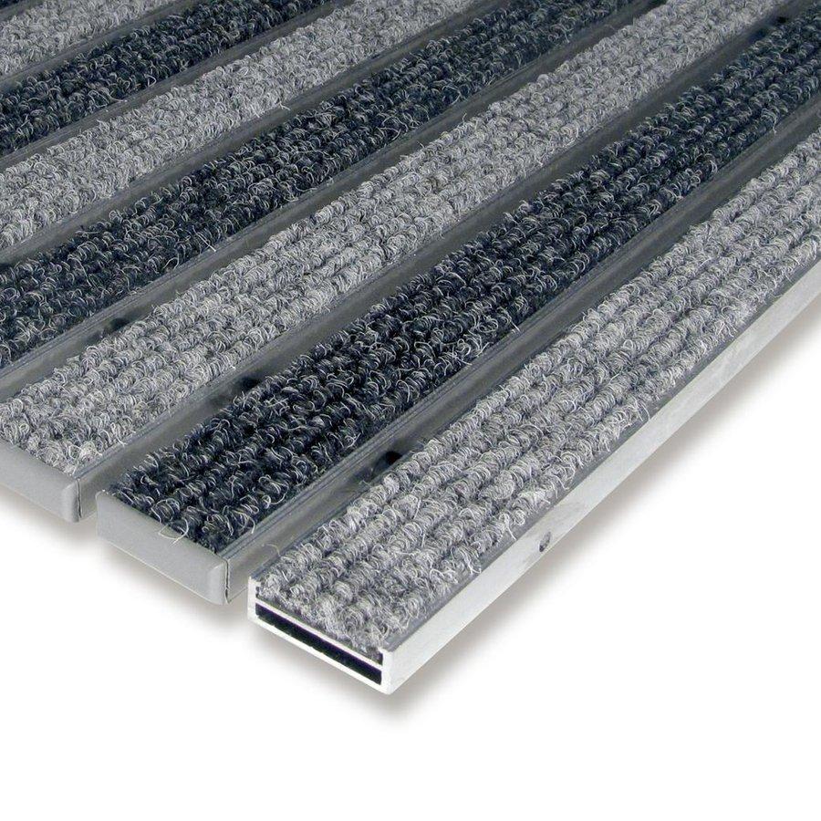 Hliníková textilní vstupní vnitřní rohož Alu Low, FLOMA - délka 1 cm, šířka 1 cm a výška 1 cm