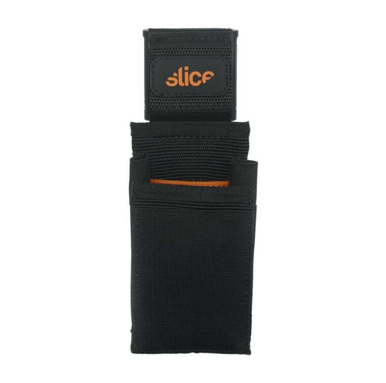 Černo-oranžové pouzdro na nářadí SLICE - délka 19,8 cm, šířka 7,5 cm a výška 3,8 cm