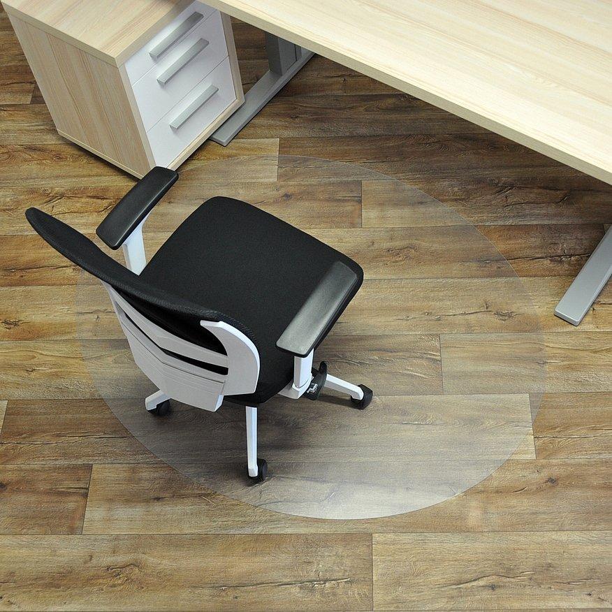 Průhledná ochranná podložka pod židli na hladké povrchy - délka 150 cm, šířka 120 cm a výška 0,15 cm