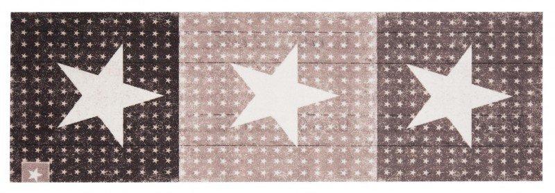 Hnědý moderní kusový koberec Cook & Clean - délka 140 cm a šířka 45 cm