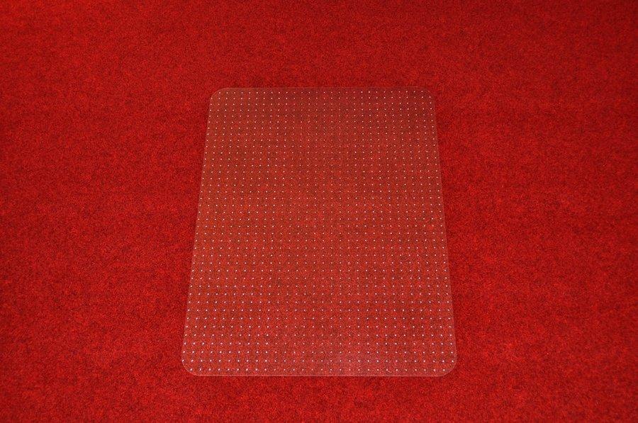 Průhledná podložka pod židli na koberec - délka 120 cm, šířka 90 cm a výška 0,2 cm